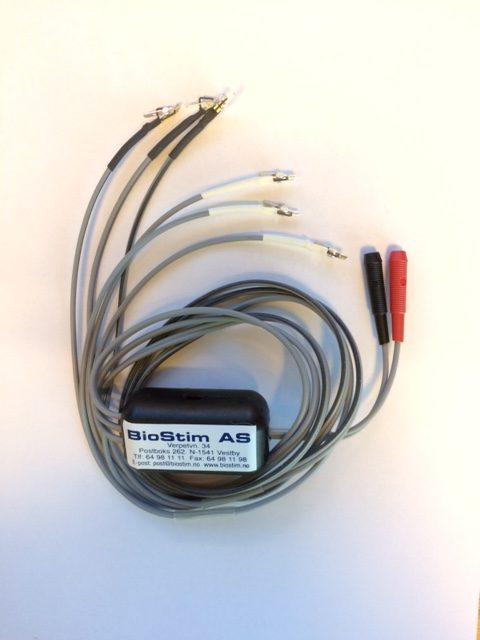 Kabel for 3 par akupunkturnåler